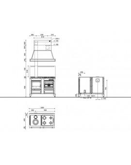 Kuchnia Rustica 120 LGE - J.Corradi