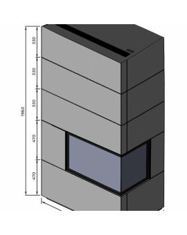 Kominek modułowy FUSION D4BS/5 z wkładem DRAGON 4B SLIM