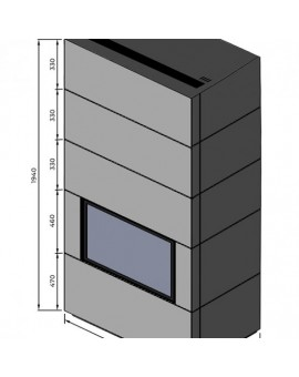 Edytuj: Kominek modułowy Unico FUSION D6XL/5 z wkładem DRAGON 6XL