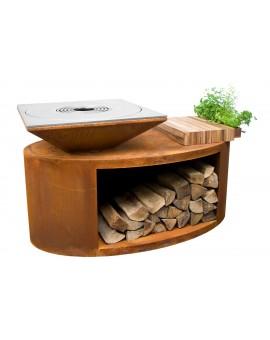 Palenisko-grill ogrodowy Artiss G3 corten