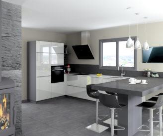 Kominek w kuchni