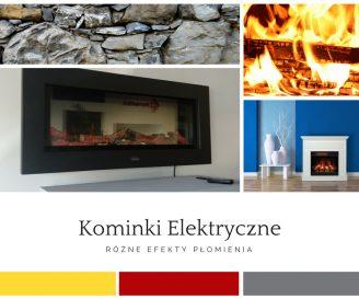 Kominki elektryczne- różne efekty płomienia